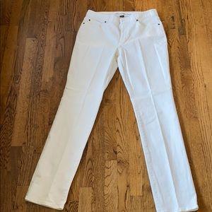 Eddie Bauer S12T Curvy Straight Leg White Jean